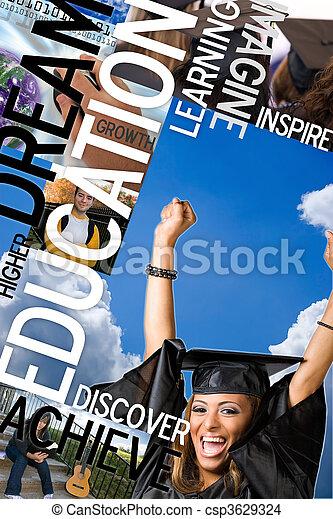 fotomontaggio, educazione - csp3629324