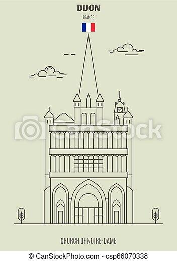 france., notre-dama, chiesa, punto di riferimento, icona, dijon - csp66070338