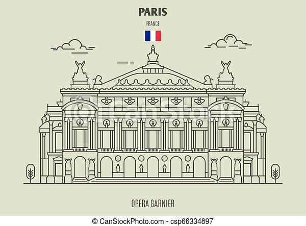 france., punto di riferimento, icona, garnier, opera, parigi - csp66334897