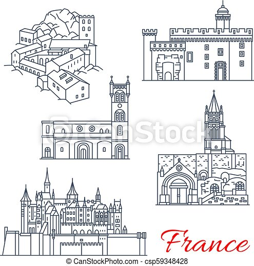 francia, aquitaine, limiti, giri, viaggiare - csp59348428