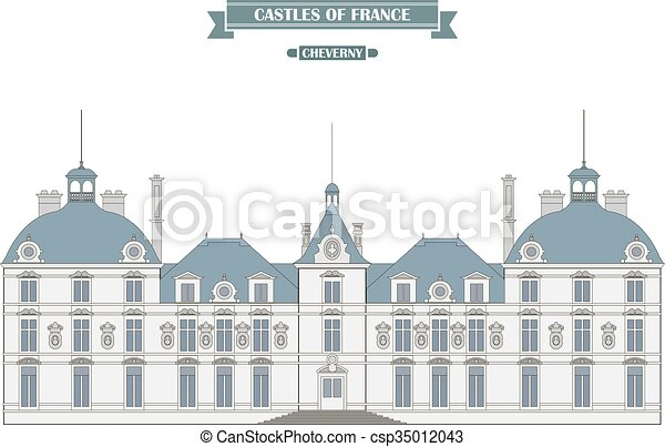 francia, cheverny, castello - csp35012043