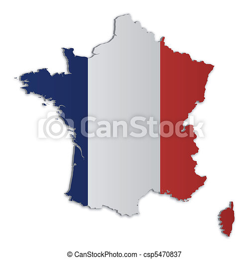 francia, mappa, 2 - csp5470837