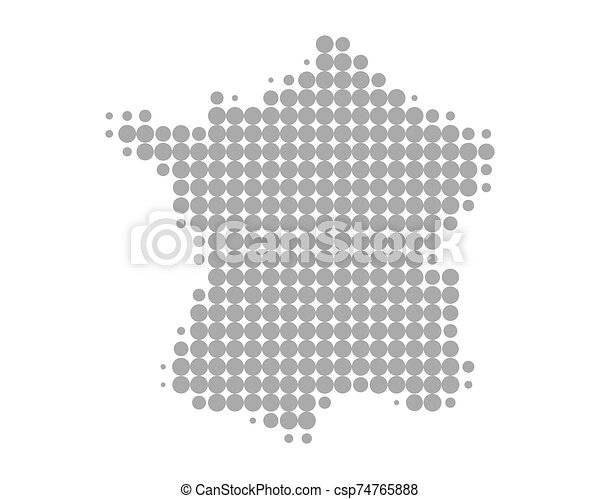 francia, mappa - csp74765888