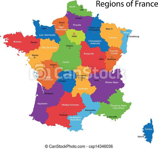 francia, mappa - csp14346036