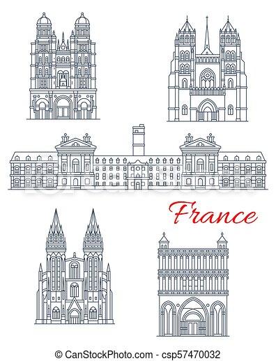 francia, punto di riferimento, viaggiare, icona, architettura - csp57470032