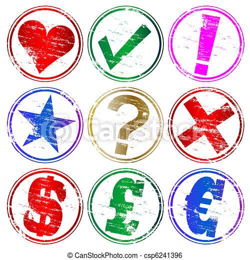 francobolli, gomma, simbolo - csp6241396