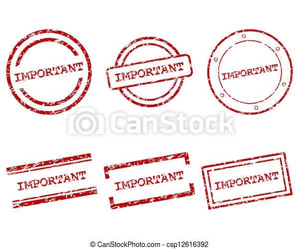 francobolli, importante - csp12616392