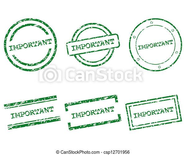 francobolli, importante - csp12701956