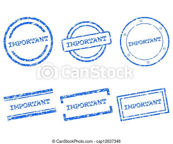 francobolli, importante - csp12637348