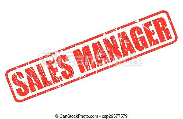 francobollo, testo, direttore, vendite, rosso - csp29577579