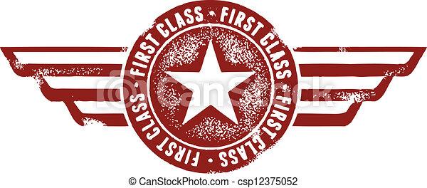 francobollo, viaggiare, classe, primo - csp12375052