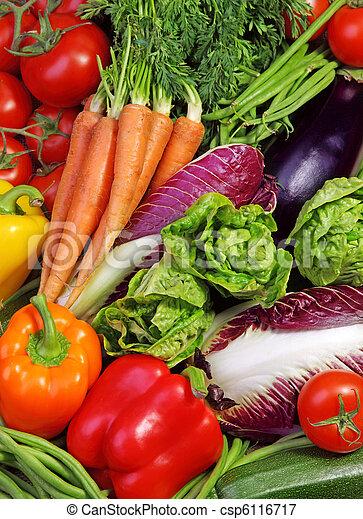 fresco, assortimento, verdura - csp6116717