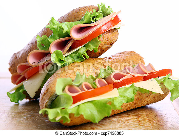 fresco, panino, saporito - csp7438885