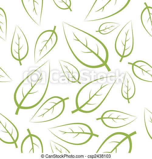 fresco, verde, mette foglie, struttura - csp2438103