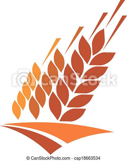 frumento, dorato, icona, campo agricoltura - csp18663534