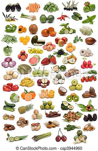 frutta, noci, spices., verdura - csp3944960