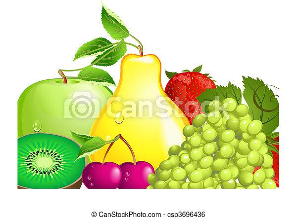 frutta, succoso - csp3696436