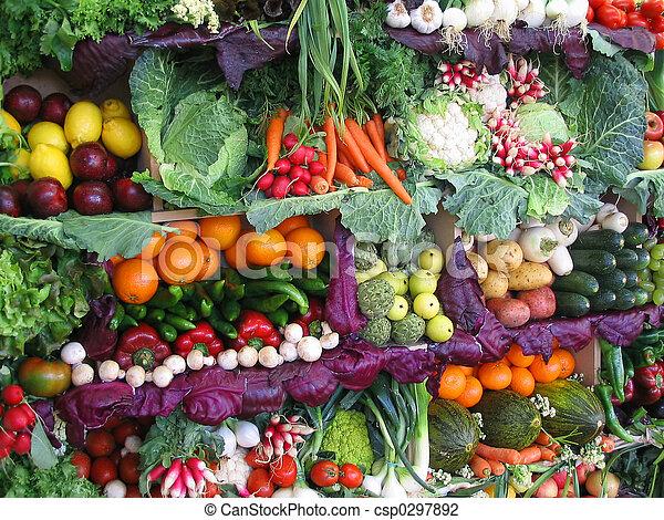 frutte, colorito, verdura - csp0297892