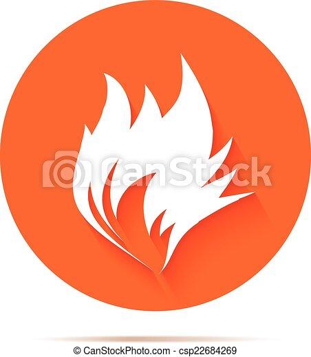 fuoco, appartamento, icona - csp22684269