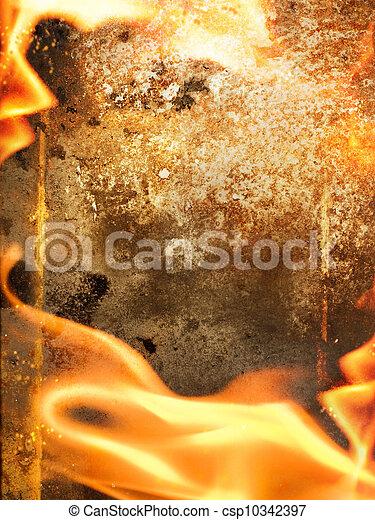 fuoco, astratto, cornice - csp10342397