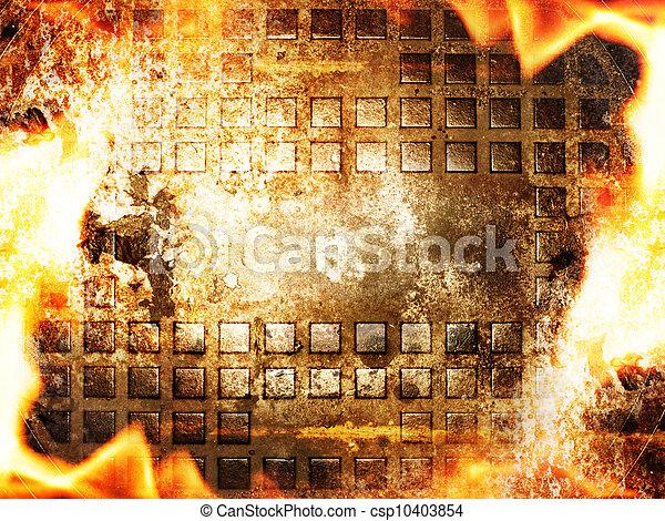 fuoco, astratto, cornice - csp10403854