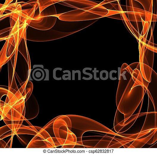 fuoco, astratto, cornice, copyspace - csp62832817