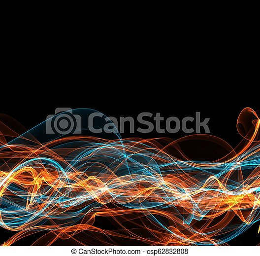 fuoco, copyspace, astratto, cornice - csp62832808