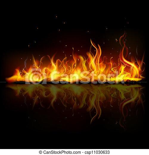 fuoco, fiamma, urente - csp11030633