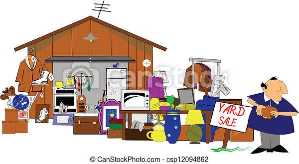 garage, iarda, enorme, vendita - csp12094862