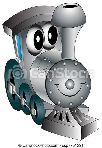 giocattolo, allegro, vivaio, locomotiva - csp7751291
