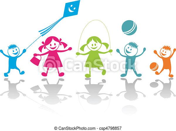 gioco, felice, bambini - csp4798857