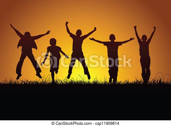 gioia, bambini - csp11909814