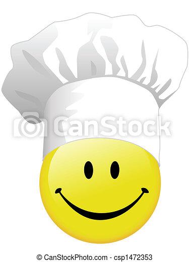 gioia, cottura, felice, smiley fronteggiano - csp1472353