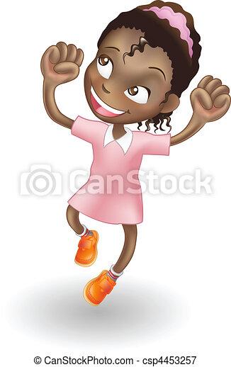 gioia, ragazza, saltare, giovane - csp4453257