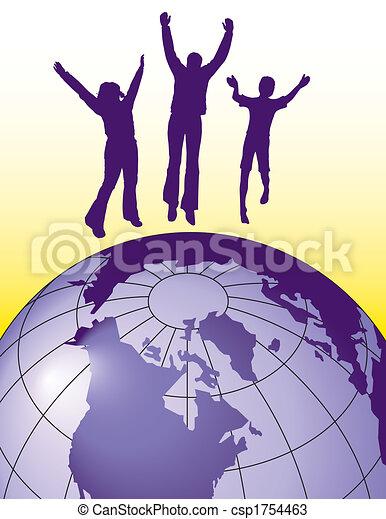 gioia, saltare, persone - csp1754463