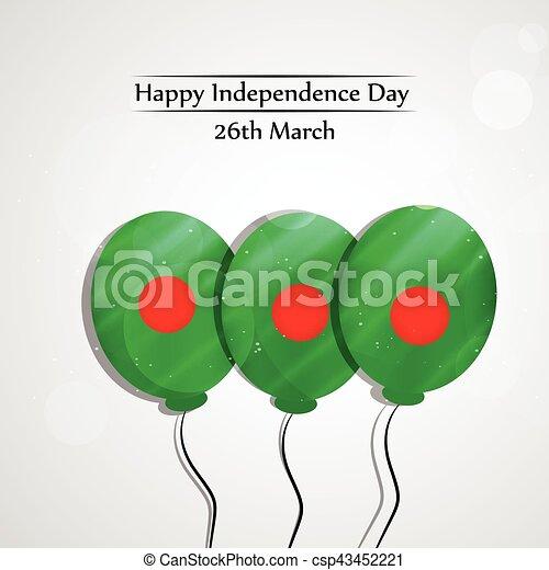 giorno, bangladesh, fondo, indipendenza - csp43452221