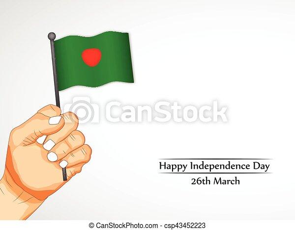 giorno, bangladesh, fondo, indipendenza - csp43452223