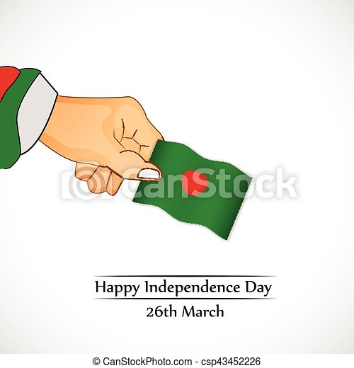 giorno, bangladesh, fondo, indipendenza - csp43452226