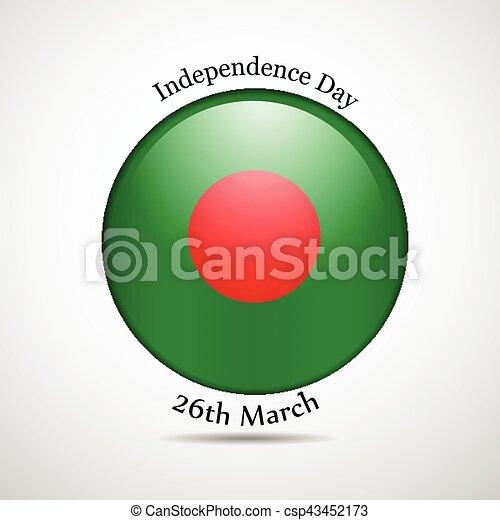 giorno, bangladesh, fondo, indipendenza - csp43452173