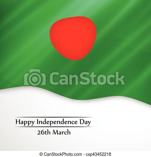 giorno, bangladesh, fondo, indipendenza - csp43452218