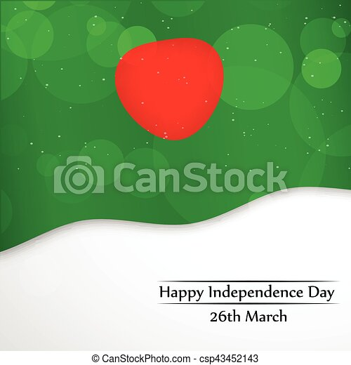 giorno, bangladesh, fondo, indipendenza - csp43452143