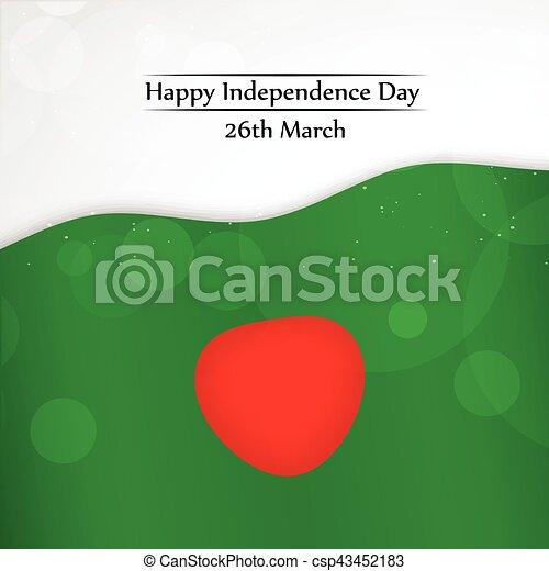 giorno, bangladesh, fondo, indipendenza - csp43452183