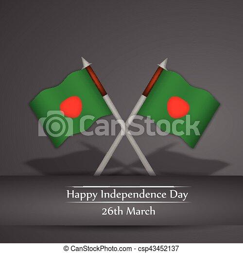 giorno, bangladesh, fondo, indipendenza - csp43452137