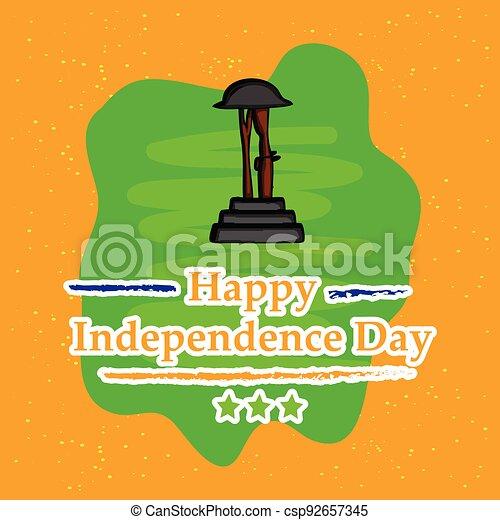 giorno indipendenza, india - csp92657345