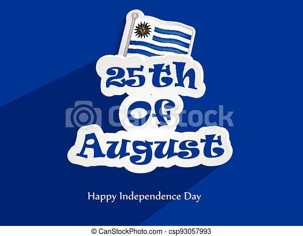 giorno indipendenza, uruguay - csp93057993