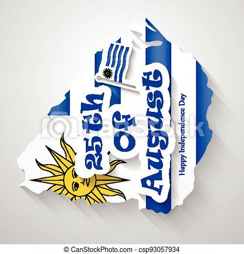 giorno indipendenza, uruguay - csp93057934
