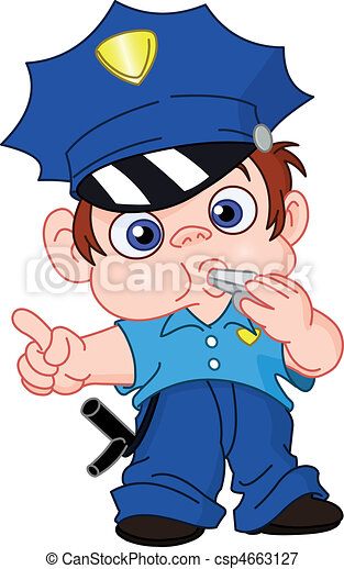 giovane, poliziotto - csp4663127