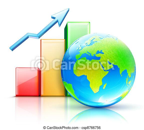 globale, concetto, affari - csp8766756