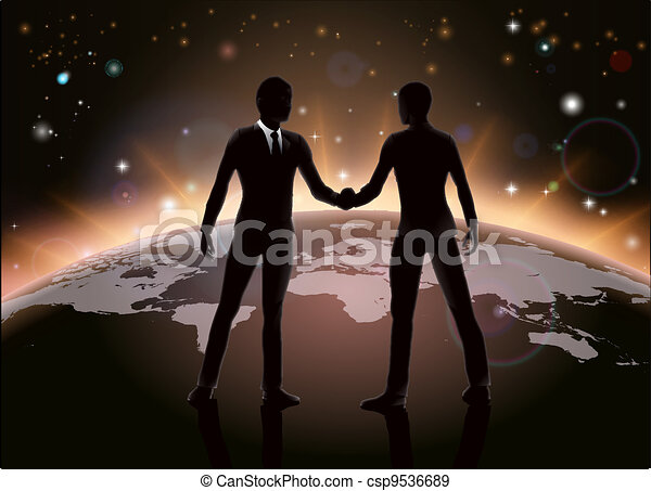 globale, concetto, affari - csp9536689