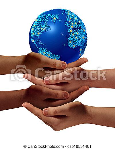 globale, educazione, comunità - csp18551401